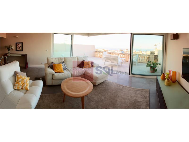 Duplex Penthouse in Valletta To Let