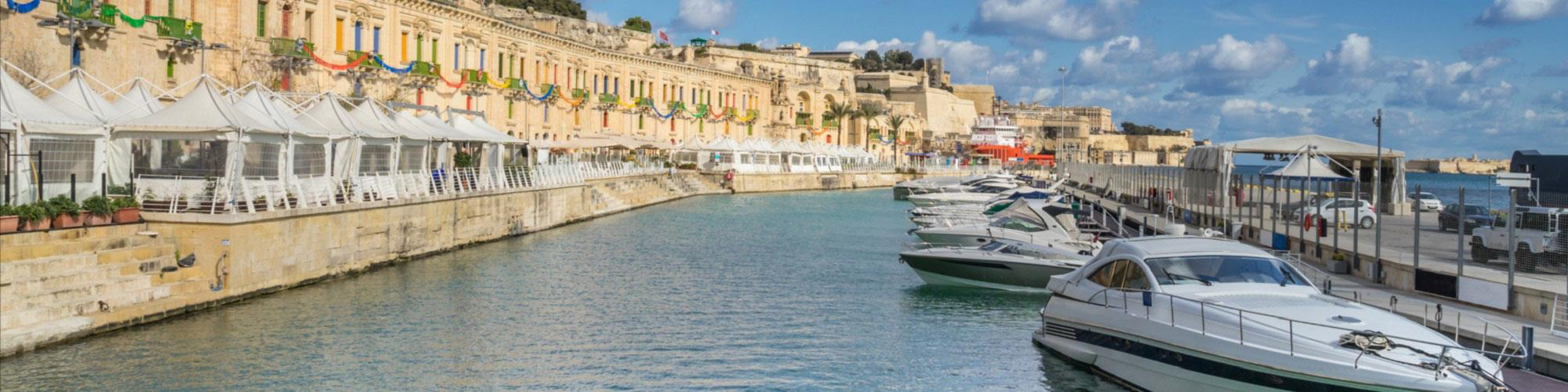 The Valletta Waterfront and yacht marina